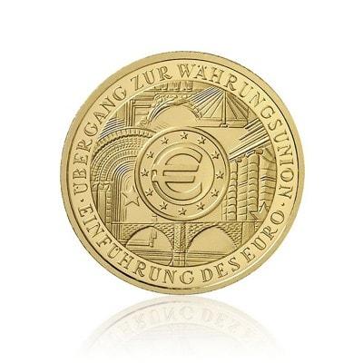 1 X 1 2 Oz Gold 100 Euro 2002 Einfuhrung Des Euro